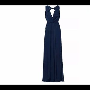 badgley mischka back out chiffon gown
